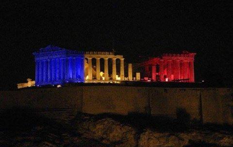 L'Acropole d'Athènes Grèce 24 Novembre 2015